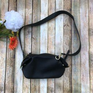 Steve Madden vegan leather black zip shoulder bag